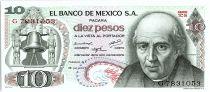 Mexique 10 Pesos, Miguel Hidalgo y castilla  - 1973