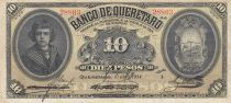 Mexique 10 Pesos Banco de Queretaro - 10-04-1914 - Série A - TB
