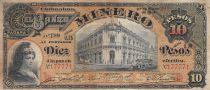 Mexique 10 Pesos El Banco Minero - 27-03-1914 - TB
