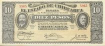 Mexique 10 Pesos F.I. Madero et A. Gonzalez - 1915