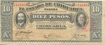 Mexique 10 Pesos F.I. Madero et A. Gonzalez