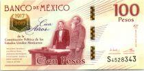 Mexique 100 Pesos - Constitution de 1917 - 2017