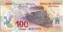 Mexique 100 Pesos - Train - 100 ans de la Révolution mexicaine - 2007