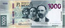 Mexique 1000 Pesos - Francisco I. Madero, Hermila Galindo y Carmen Serdán. - Jaguar - 2019 (2020) - Neuf