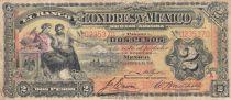 Mexique 2 Pesos Foi et Joie Assises - armoiries - 1914