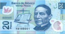 Mexique 20 Pesos - Benito Juarez - Citée Aztèque - 2012