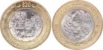 Mexique 20 Pesos - Bimétal - Centenaire de la Constitution de 1917 - 2017