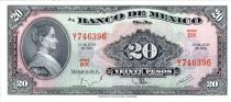 Mexique 20 Pesos - Josefa Ortiz de Dominguez - Palais Fédéral Queretaro - 1970