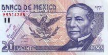 Mexique 20 Pesos J. Juarez - Statue «Hemiciclo a Juarez»