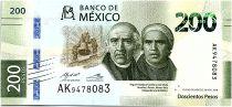 Mexique 200 Pesos - Hidalgo et Morelos - 2018 (2019) - Neuf