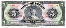 Mexique 5 Pesos - Gypsy - Momument de l\'Indépendance - 1963