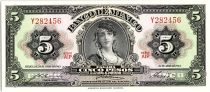 Mexique 5 Pesos - Portrait Gypsy - Momument  - 1963