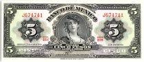 Mexique 5 Pesos - Portrait Gypsy - Monument  - 1970