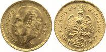 Mexique 5 Pesos Miguel Hidalgo y Costilla - Emblème national 1955 - Or