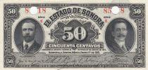 Mexique 50 Centavos 1915 - Sonora - Perforé par deux trous