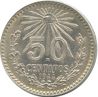 Mexique 50 Centavos Aigle et serpent