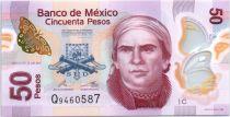 Mexique 50 Pesos - Jose María Morelos - Aqueduc de Morelia - Polymer - 2012