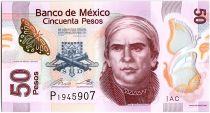 Mexique 50 Pesos - Jose María Morelos - Aqueduc de Morelia - Polymer - 2017 - Neuf - P.123A - Série AC