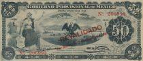 Mexique 50 Pesos Liberté - Volcan - Aigle et serpent - 1914