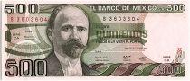 Mexique 500 Pesos, - Fransisco Madero  - 1982