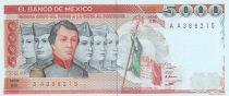 Mexique 5000 Pesos Soldats - Château de Chapultepec - 1985