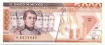Mexique 5000 Pesos Soldats - Château de Chapultepec 1989