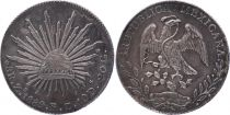 Mexique 8 Reales Emblème national - 1889 Zs FZ Zacatecas