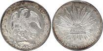 Mexique 8 Reales Emblème national - 1895 Cn AM Culiacan