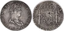 Mexique 8 Reales Ferdinand VII - Armoiries - 1821 Zs RG Zacatecas