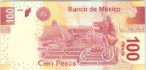 Mexique P.124.f 100 Pesos, Nezahualcoyoti - Statue Xochipilli - 2012