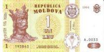 Moldava 1 Leu King Stefan