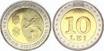 Moldava 10 Lei 2018 - 25 years of National Currency - Bimetal