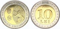 Moldava 10 Lei 2018 - 25 years of National Currency - Bimetal