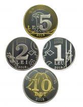 Moldava Set of 4 coins 2018 - 1 to 10 Lei 2018