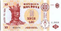Moldavie 10 Lei Roi Stefan - 1995
