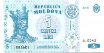 Moldavie 5 Lei Roi Stefan - 2006