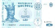Moldavie 5 Lei Roi Stefan - 2013