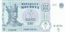 Moldavie 5 Lei Roi Stefan - 2015 (2017)