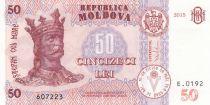 Moldavie 50 Lei Roi Stefan - 2015 (2017)