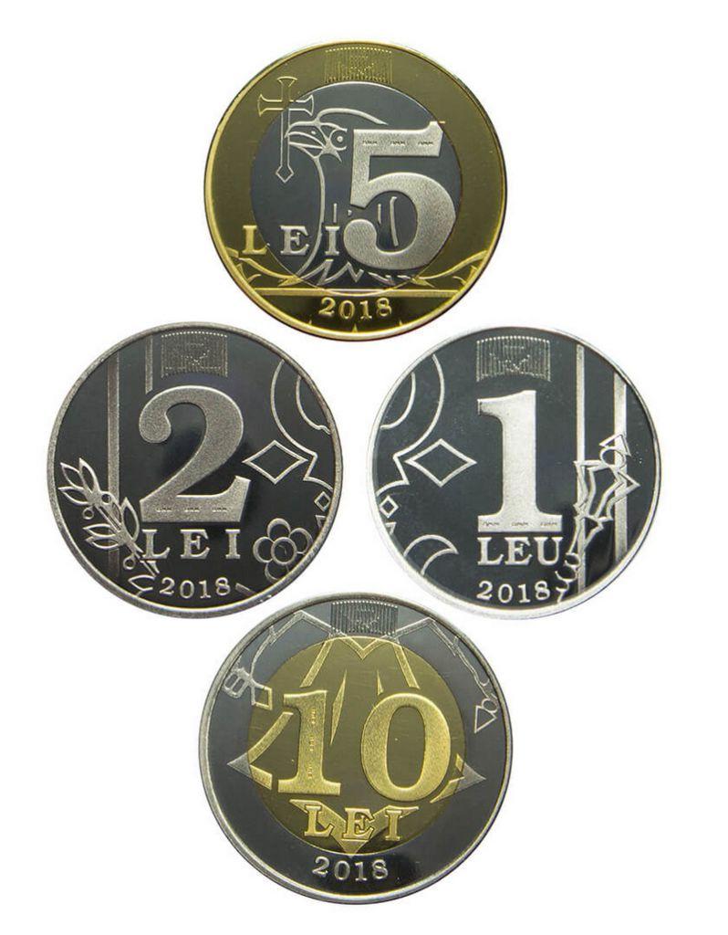 Moldavie Série 4 monnaies 2018 - 1 à 10 Lei 2018