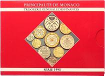 Monaco  Set of 10 coins Rainier III - 1995 - BU