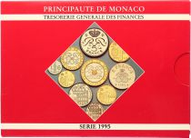 Monaco  Set of 10 coins Rainier III - 1995 - BU