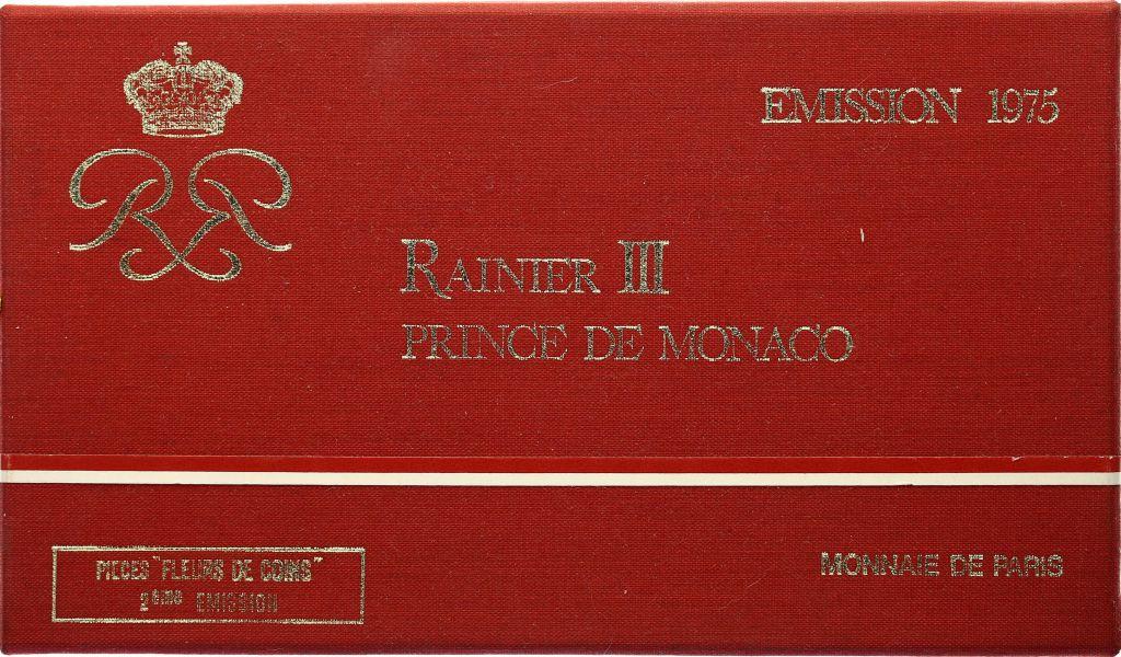 Monaco  Set of 7 coins Rainier III - 1975
