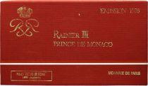 Mónaco  Set of 9 coins Rainier III - 1976