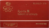 Monaco  Set of 9 coins Rainier III - 1976