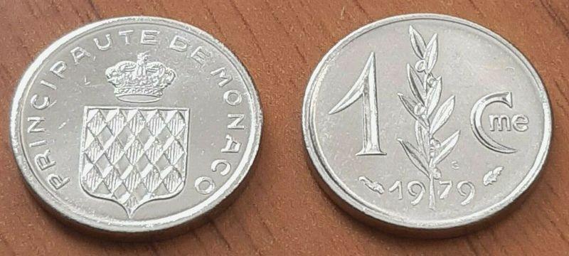 Monaco 1 Centime Grimaldi\'s arms - 1979