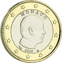 Monaco 1 Euro Monaco Albert II - 2020 Bimétal