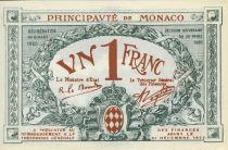 Monaco 1 Franc  - Armoiries  - 20/03/1920 - Série A