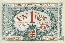 Monaco 1 Franc - Arms - 20/03/1920 - Serial A