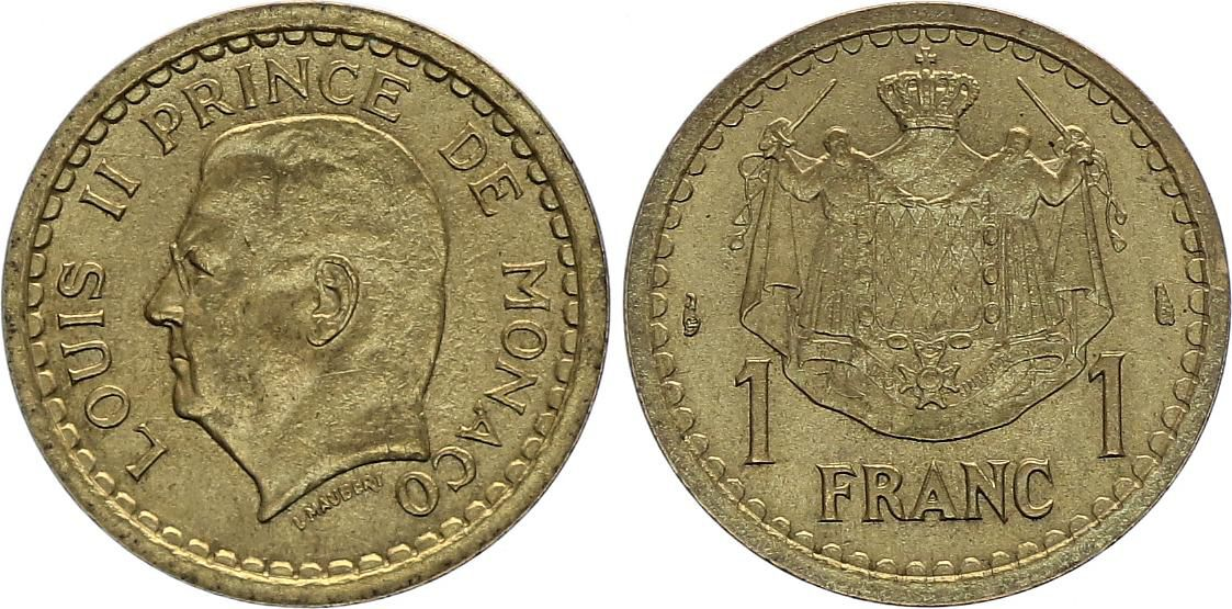 Monaco 1 Franc Louis II -  ND (1943) - AU - KM.120